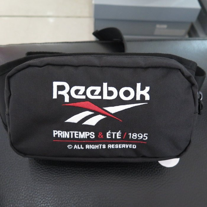 【iSport愛運動】REEBOK PRINTEMPS ETE W 腰包 單肩包  DU7201 黑
