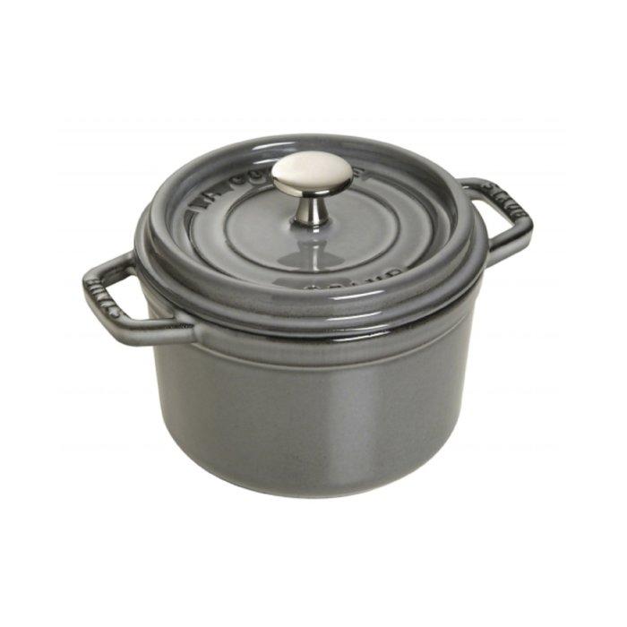 法國 Staub 16公分 圓鍋 鑄鐵鍋 石墨灰