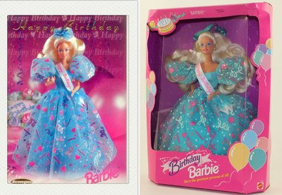 Barbie Birthday 1993 生日快樂 芭比娃娃 甜美禮服珍藏