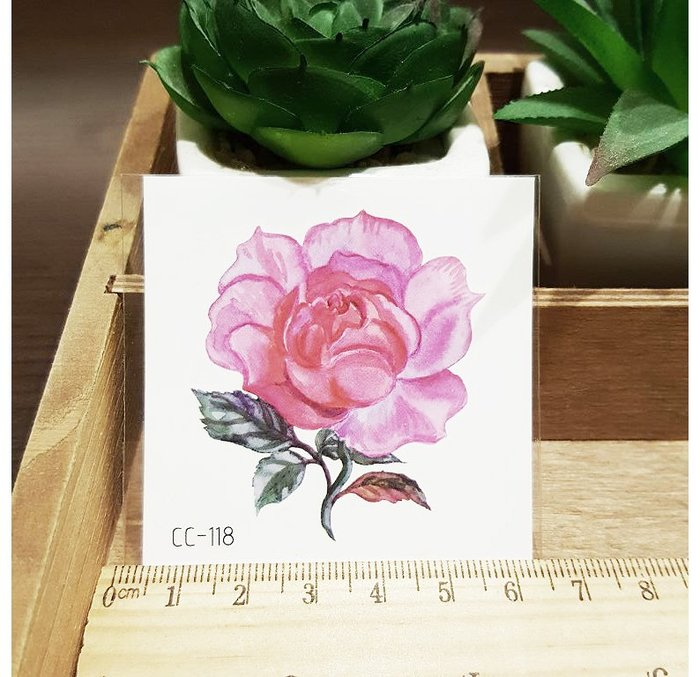 【萌古屋】花朵單圖CC-118 - 防水紋身貼紙刺青貼紙K38