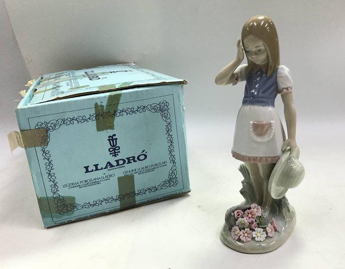 【藏舊尋寶屋】西班牙名瓷 Lladró雅緻 瓷偶《花藍少女》附紙盒※708230726082D※〈歐洲頂級 手工名瓷〉