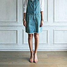 CURRENT/ELLIOTT 水洗刷色牛仔吊帶裙 現貨