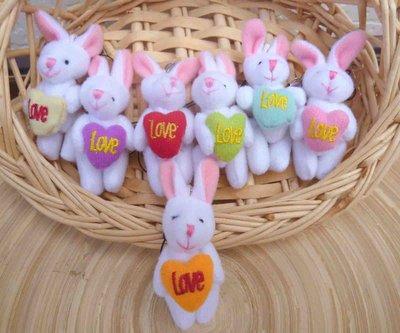兩款彩色開心兔均一價~7cm抱心兔手機吊飾~結婚禮小物二次進場團康送客禮贈品周年慶生日聖誕節復活節開幕來店禮迎賓禮滿額禮