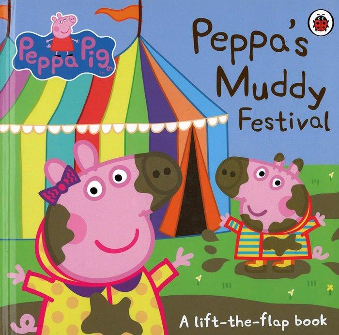 *小貝比的家*PEPPA'S MUDDY FESTIVAL/硬頁翻翻書/3~6歲