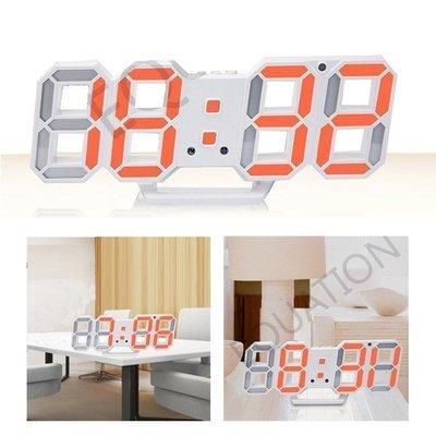 (免運)3D數字時鐘 科技電子鐘 LED數字鐘 立體電子時鐘 時鐘 電子鬧鐘 掛鐘 小夜燈