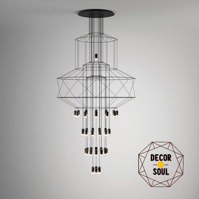 DS北歐家飾§ loft工業風 平面幾何圖型造型43頭吊燈 LED 美式簡約現代挑高餐廳裝潢設計師兒童房創意水晶燈吸頂燈