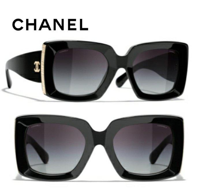 CHANEL香奈兒► (黑色框×深煙灰色漸層鏡片)太陽眼鏡 墨鏡 |100%全新正品|代購