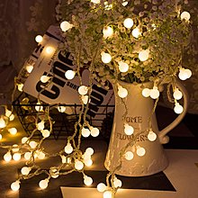 10米 LED彩燈閃燈串燈戶外圓球節日插電款110V攝影婚慶防水聖誕滿天星新年居家庭院造景燈夜景裝飾節日喜慶彩燈 彩色