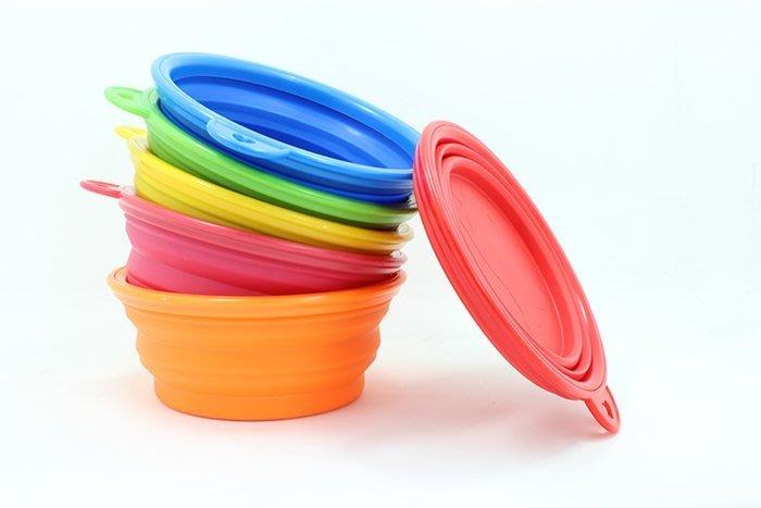 [宅大網] 70060A 狗用品外出折疊伸縮碗 寵物折疊碗 外出碗 可攜碗 寵物狗碗 水碗 二合一功能折疊碗