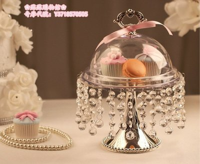 ❀蘇蘇購物館❀創意水晶墜透明蛋糕台 高腳婚慶擺台 主蛋糕托盤 亞克力果盤