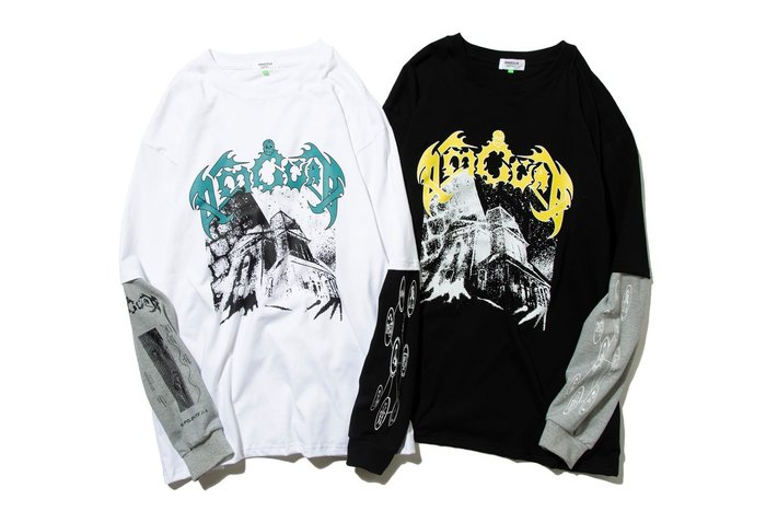 { POISON } DeMarcoLab THE HOUSE F2L-L/S TEE 吸濕快乾拼接袖身撞色長TEE