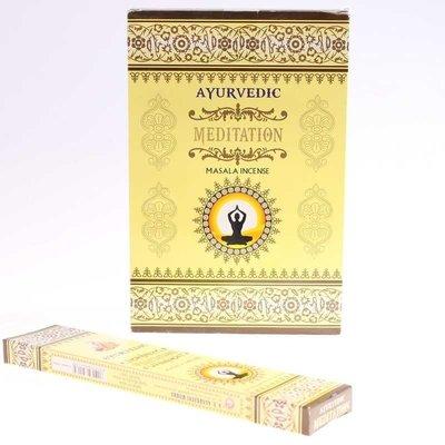 [晴天舖] 印度線香 阿育吠陀 冥想 AYURVEDIC MEDITATION 新品上市 3盒100