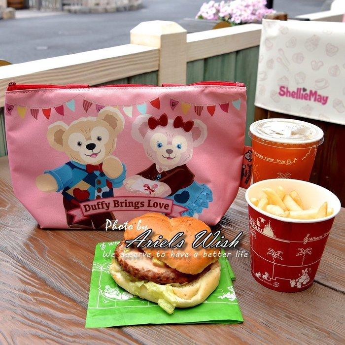 Ariel's Wish-日本東京迪士尼Duffy Shelliemay達菲熊雪麗玫情人節防潑水拉鍊便當袋子手提袋-現貨