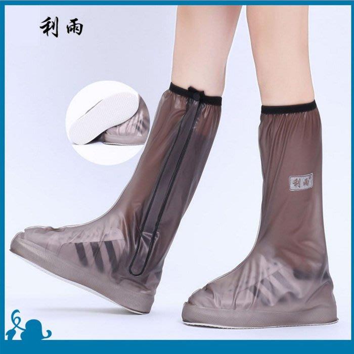 糖衣子輕鬆購【AS0067】男女高筒加厚止滑防護鞋套防雨鞋套PVC防疫防水鞋套