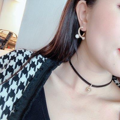 韓國Baby~洋氣大小姐 水鉆珍珠耳環