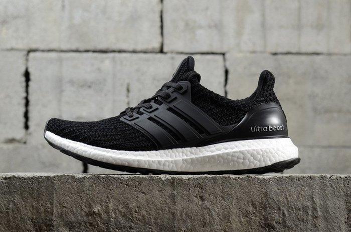 Adidas Ultra Boost4.0 黑白 馬牌 編織 透氣休閒慢跑鞋BB6166