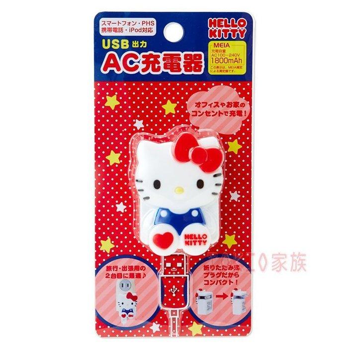 《東京家族》Hello Kitty USB AC充電器/旅充電插座 現貨