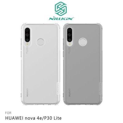 *PHONE寶*NILLKIN HUAWEI nova 4e/P30 Lite 本色TPU軟套 保護套 透色 超薄套