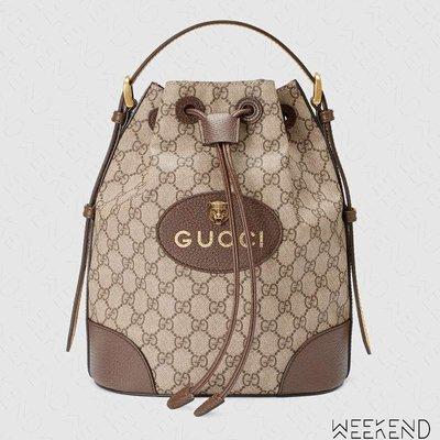 【WEEKEND】 GUCCI GG Supreme Logo 手提 可調肩背 後背包 473875