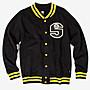 【HOMIEZ】STUSSY S-LINK FLEECE JACKET GREY 棒球外套 灰 黑 M L