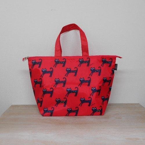 《散步生活雜貨》日本進口 DESIGNERS JAPAN 貓咪圖案 紅色 簡易保冷機能 環保購物袋DJH-005H