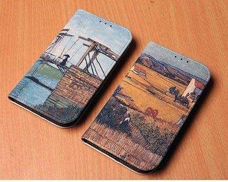 韓國復古風彩繪皮套 Note 8 S9 plus S8 plus S7 Edge 5 A8 J7手機殼手機套iphone X iphone 8 Plus 6