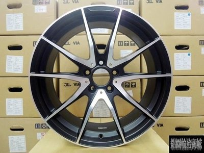 【CS-021】全新 類 AMG 鋁圈 19吋 5孔112~108~114.3 前後配 W204.C300.C250
