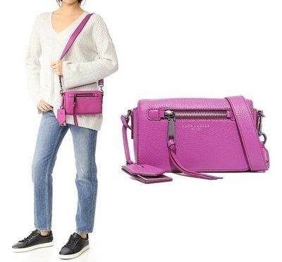 ◎美國代買◎Marc Jacobs Recruit Cross Body Bag拉鏈裝飾寛版皮帶紫色斜肩背包