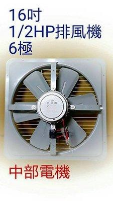 「工廠直營」低噪音 16吋 1/2HP 6極 工業排風機 吸排 通風機 抽風機 電風扇 工業用排風扇 抽油煙機 散熱扇