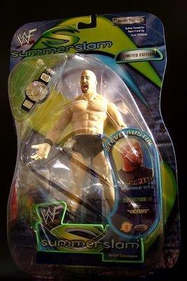2001 美職摔角 WWF 系列  之  SUMMERSLAM!限定【 金牌 奧斯汀 - STONE COLD STEV
