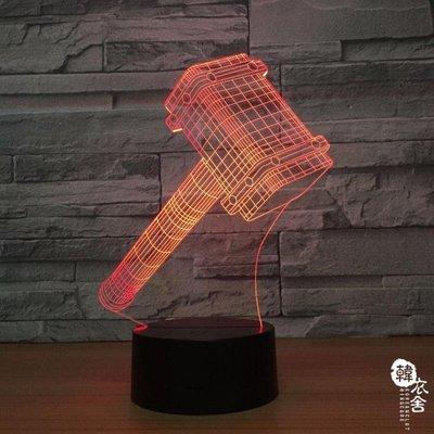 創意led臺燈 usb床頭燈卡通臥室新奇特插電3D小夜燈1298