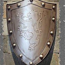 歐式鐵金屬盾牌歐洲中世紀騎士古羅馬武士盔甲酒吧餐廳裝飾(兩色可選)