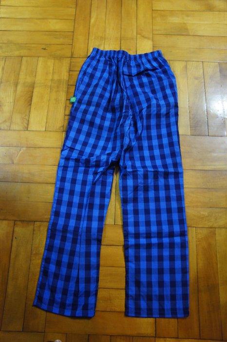 (全新)B309 森林系女孩必備藍色格紋棉製褲 - 超好看