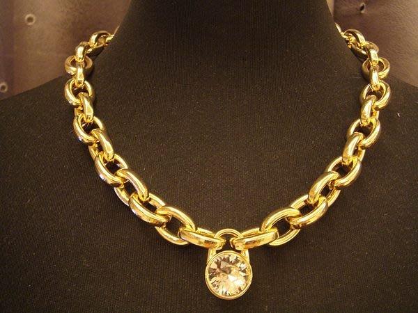 全新美國名牌 Michael Kors MK 高質感金色鍊閃鑽奢華造型項鍊,低價起標無底價!本商品免運費!