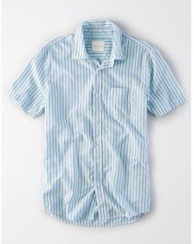 美國 AE MADRAS BUTTON-DOWN SHIRT 美國老鷹條紋襯衫現貨XS號