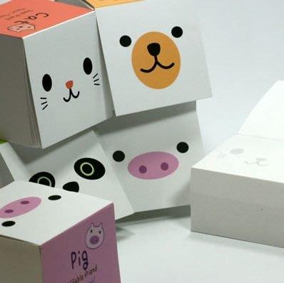 【象牙Cute ta】韓國 tofu memo it  動物方塊便條紙