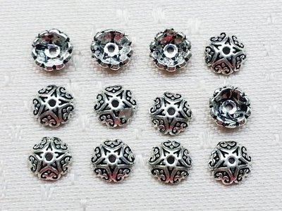 嗨,寶貝手創飾品工作室* 925純銀飾 DIY串珠配件☆5.5mm花形花托花蓋☆兩個一起售 全面85折 特價除外