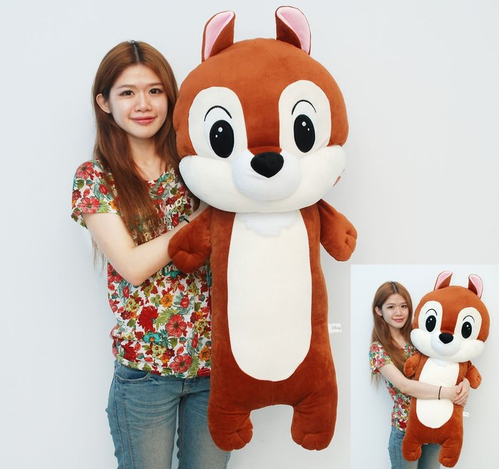 超大奇奇娃娃~正版迪士尼~奇奇蒂蒂長抱枕~高100公分~最受歡迎玩偶