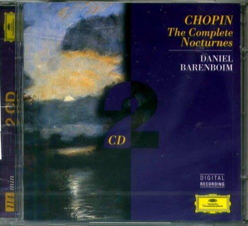 蕭邦:夜曲全集(2CD) Chopin / 巴倫波因  Daniel Barenboim  --- 4530222