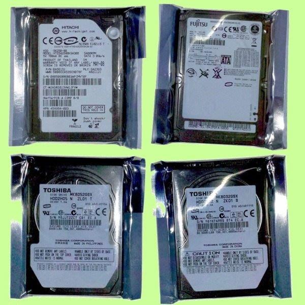 5Cgo【權宇】SATA 2.5吋 80G 80GB 5400轉/7200轉 TOSHIBA HITACHI FUJIT