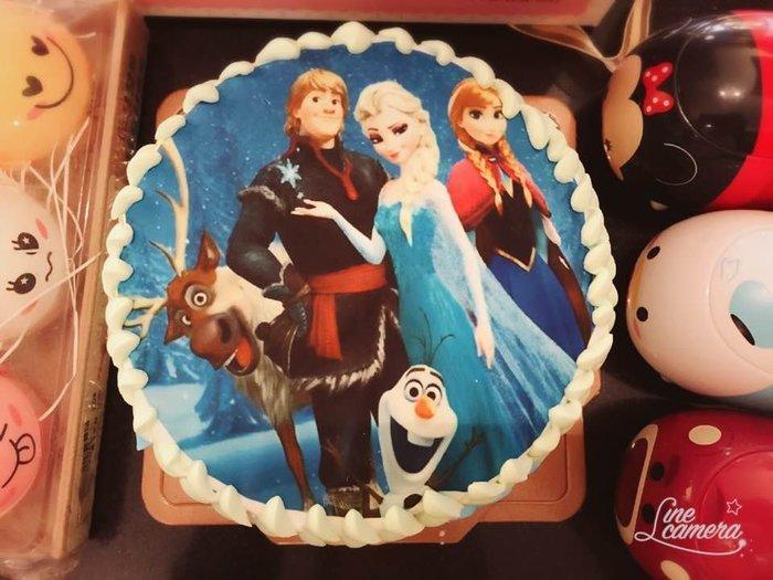 ❤ 限自取 ❥ 雪屋麵包坊 ❥ 相片蛋糕款式 ❥ 冰雪奇緣款式 ❥ 六吋生日蛋糕 ❥❥ 送彩色蠟燭