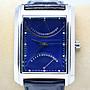 《寶萊精品》PARLIAMENT 銀藍色縱長型石英男子錶