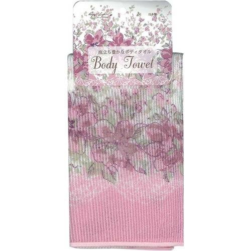 ~~凡爾賽生活精品~~全新日本進口粉紅色花朵造型沐浴用洗澡巾.擦澡巾~日本製