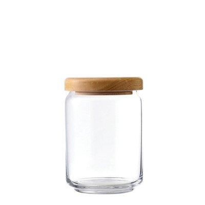 ☘小宅私物☘ Ocean 木蓋儲物罐 650ml 收納罐 密封罐 玻璃罐 咖啡罐 保鮮罐 現貨附發票