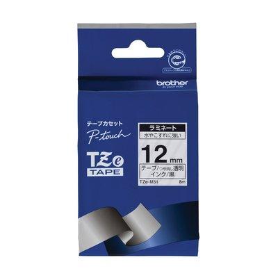 【東京速購】Brother TZe-M31  TZe-131 護貝標籤帶 ( 12mm 透明底黑字 )