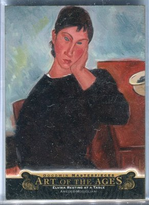 2015 UD Goodwin Art of Ages Amedeo Modigliani Elvira Resting at a Table