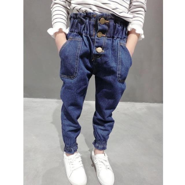 【溜。溜。選物】春夏新款兒童寬鬆燈籠褲蘿蔔牛仔褲