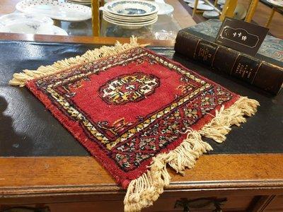 【卡卡頌 歐洲跳蚤市場/歐洲古董】※活動特價※法國老件_羊毛 幾何圖形 桌墊 老桌墊 流蘇 典雅 收藏 擺飾f0087✬