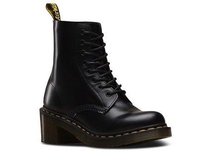 美國代購)Dr Martens CLEMENCY GREENLAND 八孔 黑色皮革高跟靴鞋 UK3-9 (歐陽娜娜著