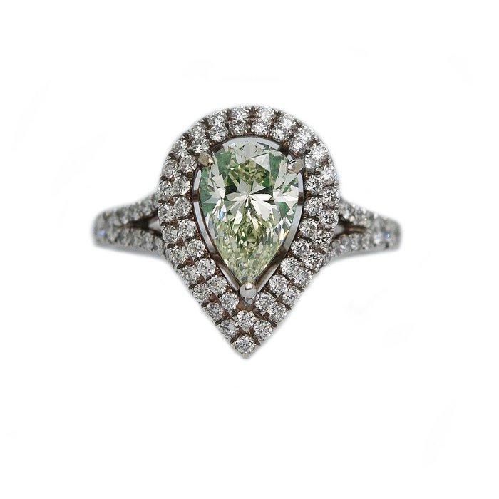 【JHT金宏總珠寶/GIA鑽石專賣】GIA天然彩色鑽石戒指-1.54ct LGY/VS2 F108